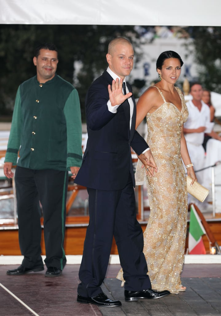 Matt and Luciana Damon at the Venice Film Festival.