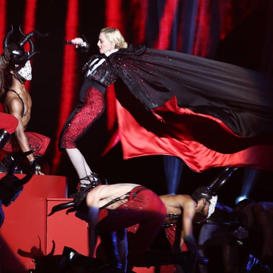 Madonna Falls on Stage at Brit Awards 2015