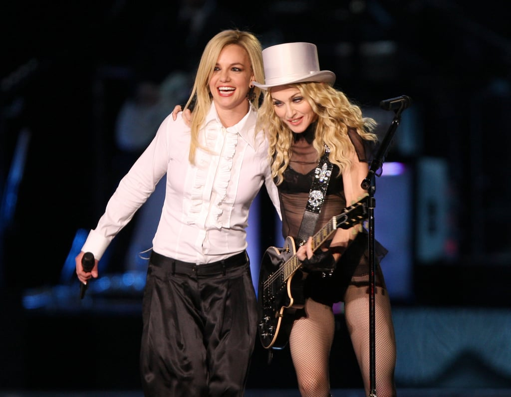 In 2008, Britney Spears and Madonna shared the stage during Madonna's Sticky & Sweet Tour in LA.