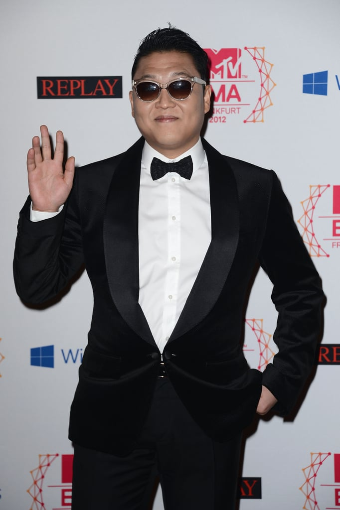 PSY was on the red carpet at the MTV EMAs.