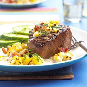 Fast and Easy Dinner: Tenderloin With Grilled Corn Relish