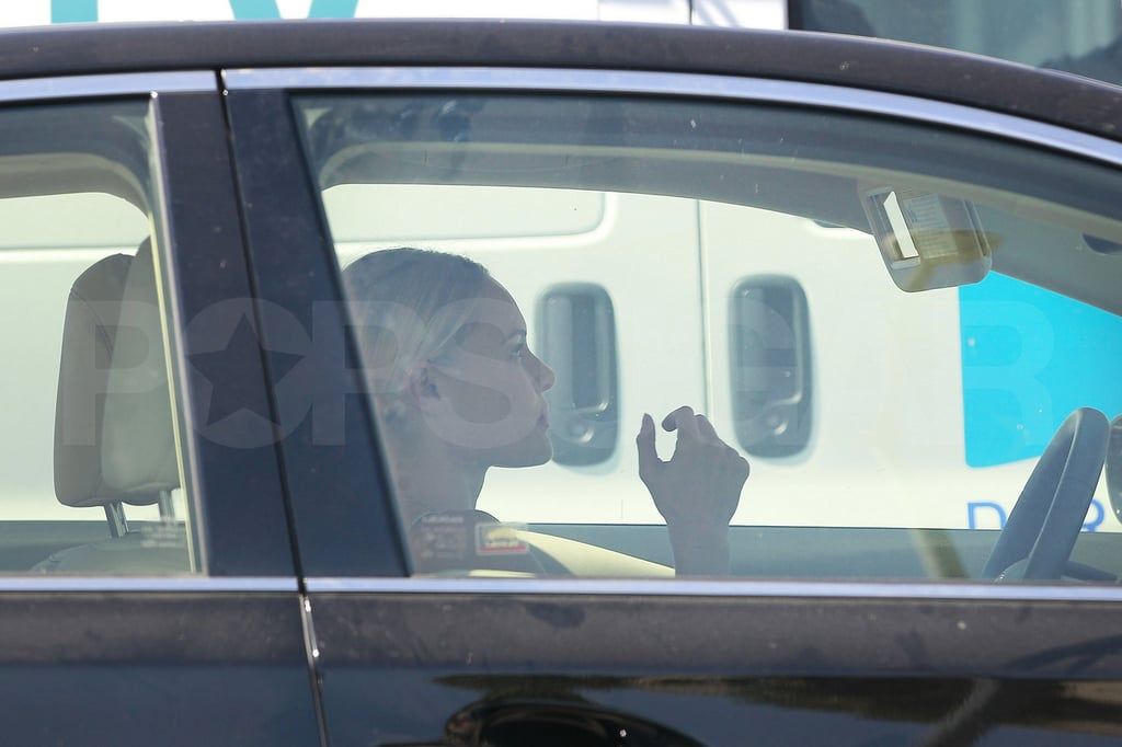 Kate Bosworth hopped in her car.