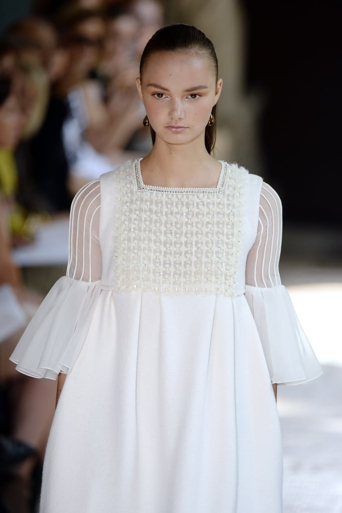 Christophe Josse's ethereal white collection played with texture.