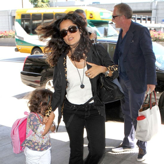 Salma Hayek Leaves LAX With Valentina Pinault Pictures