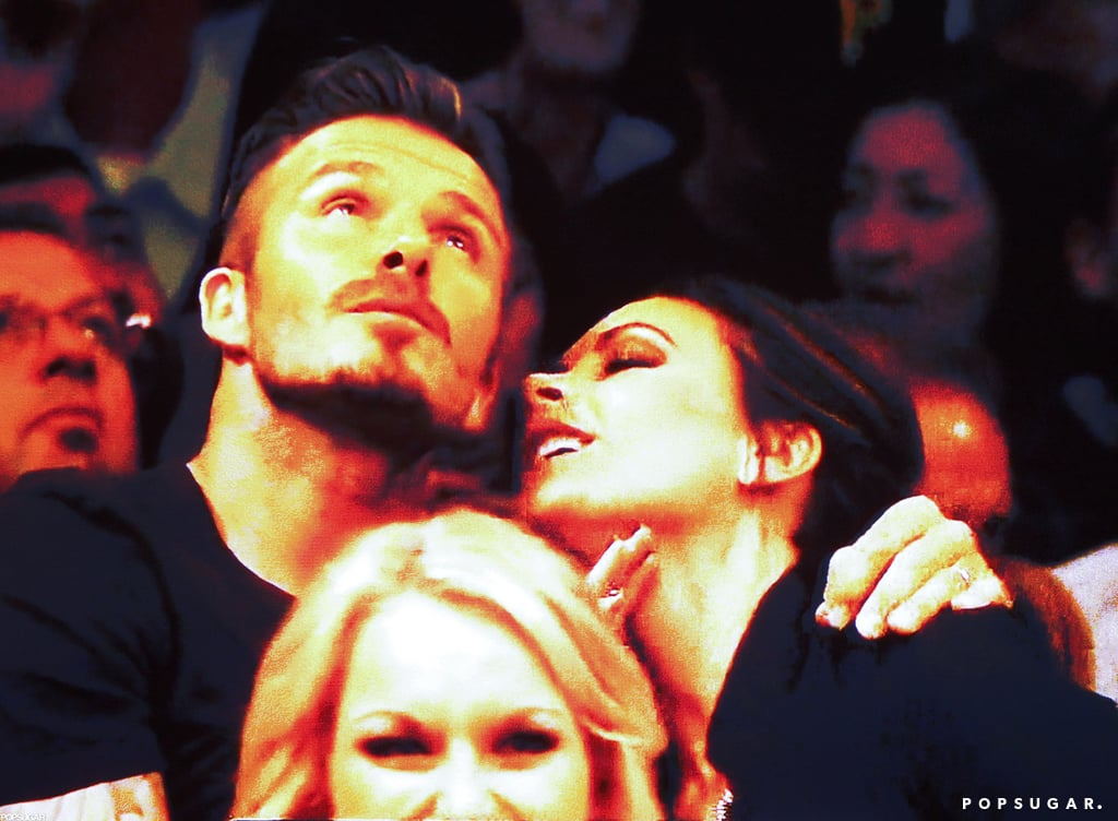 David Beckham and Victoria Beckham showed PDA.