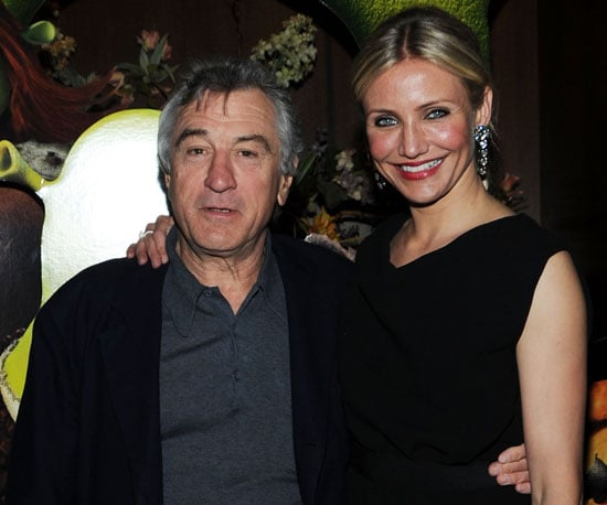 Slide Picture of Robert De Niro and Cameron Diaz at the NYC Premiere of Shrek