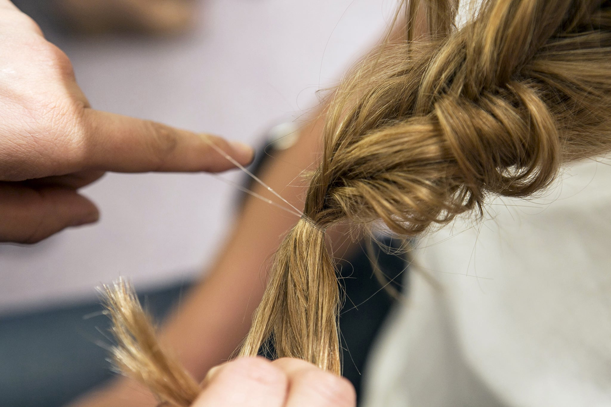 Go back and secure the ends with a thin elastic.