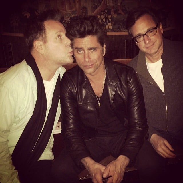Dave Coulier and Bob Saget joked around with John Stamos during a night out in NYC on Tuesday. Source: Instagram user johnstamos