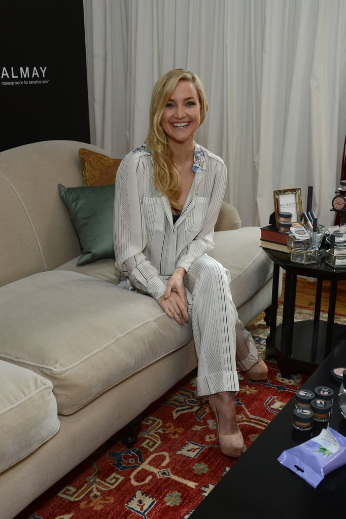 Kate Hudson promoted Almay in NYC.