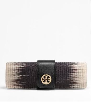 We love how the ombre dresses up a great woven Summer staple.  Tory Burch Ombre Clutch ($250)
