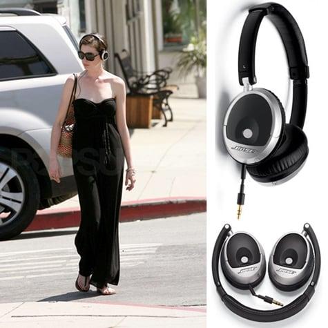 Anne Hathaway Wears Bose On-Ear Headphones