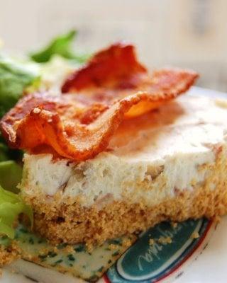 Stilton and Bacon Cheesecake