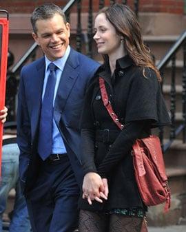 Matt Damon Talks Working Relationship With Ben Affleck at Adjustment Bureau Junket With Emily Blunt