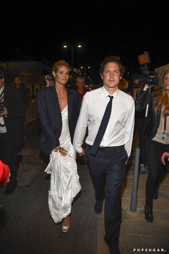 Heidi Klum held hands with her boyfriend, Vito Schnabel.