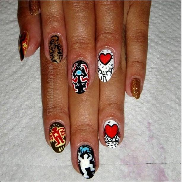 Keith Haring Nails