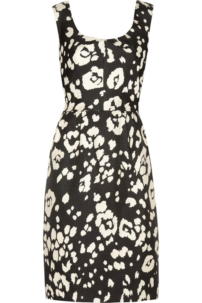 Oscar de la Renta for The Outnet tulip-jacquard silk dress