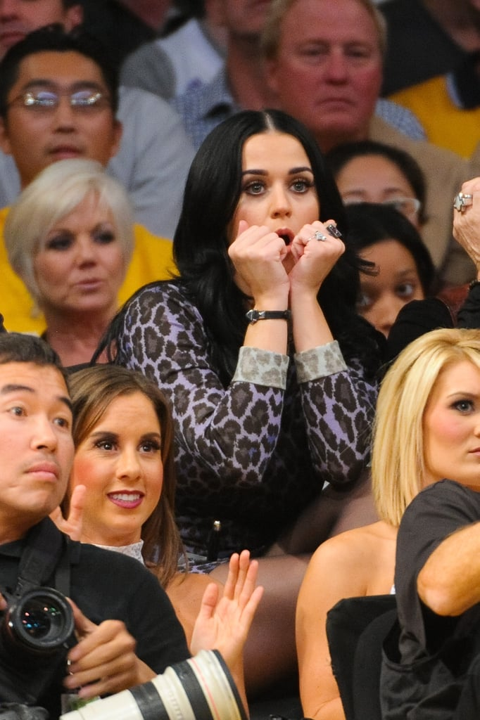 Katy Perry was nervous at the Lakers.