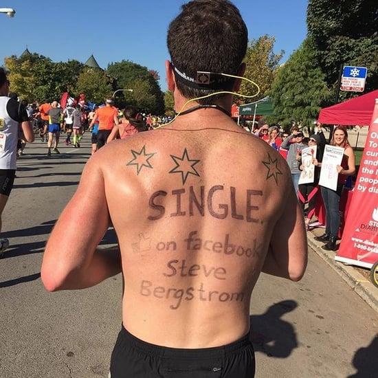 Shirtless Man in Chicago Marathon