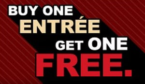 Buy One Entree Get One Free at T.G.I. Friday's Coupon