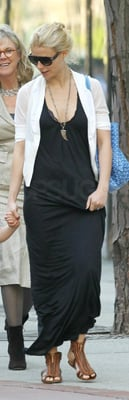 Gwyneth Paltrow Walks With Family in New York in Long Black Dress