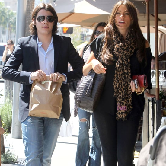 Pictures of Sofia Vergara and Her Son Manolo Gonzalez Having Lunch in Beverly Hills