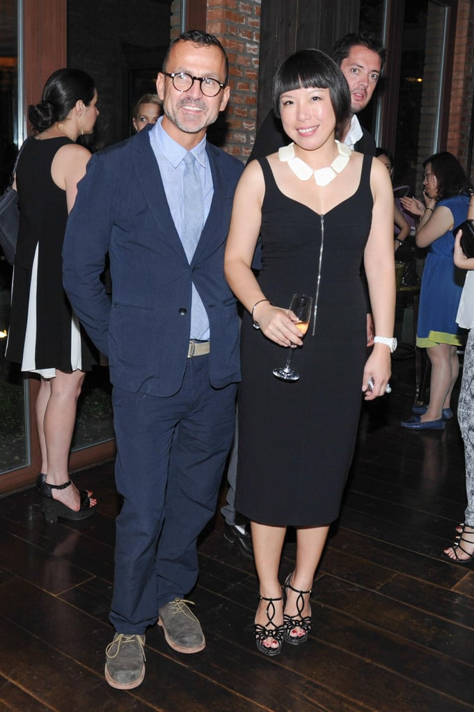 Steven Kolb and Angelica Cheung at the Vogue welcome dinner for Americans in China in Beijing. Source: Neil Rasmus/BFAnyc.com
