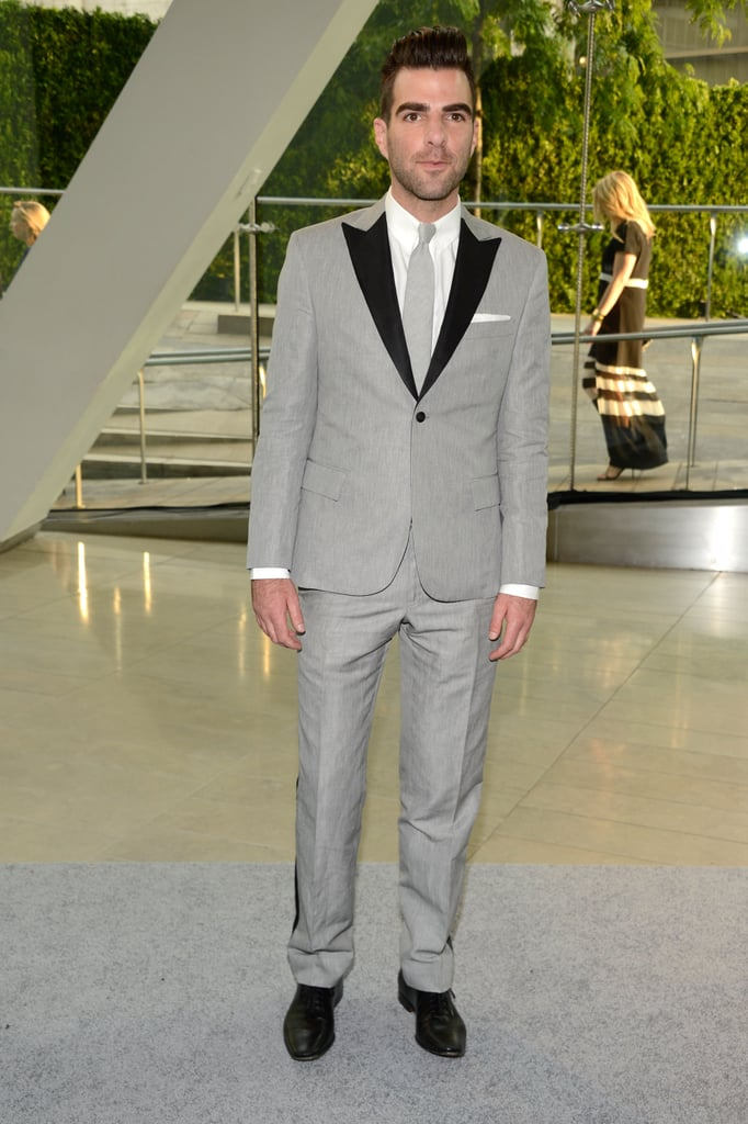 Zachary Quinto arrived at the CFDA Fashion Awards.