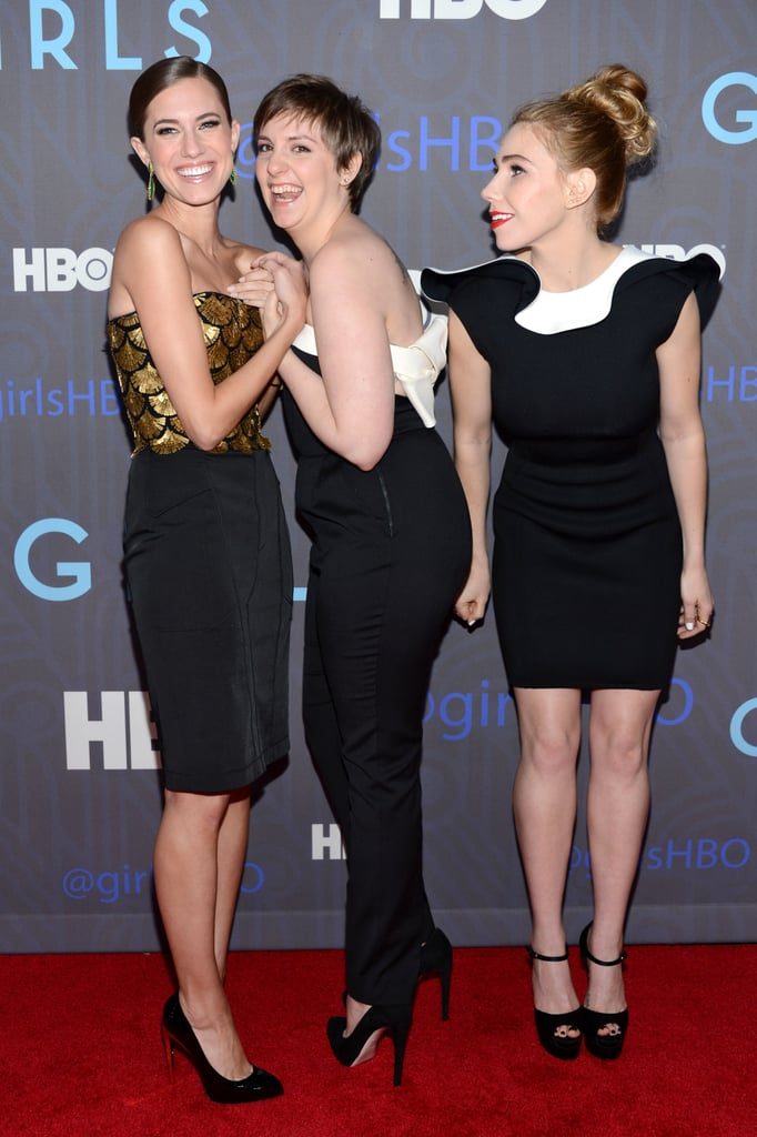 Lena Dunham joked around with Allison Williams and Zosia Mamet.