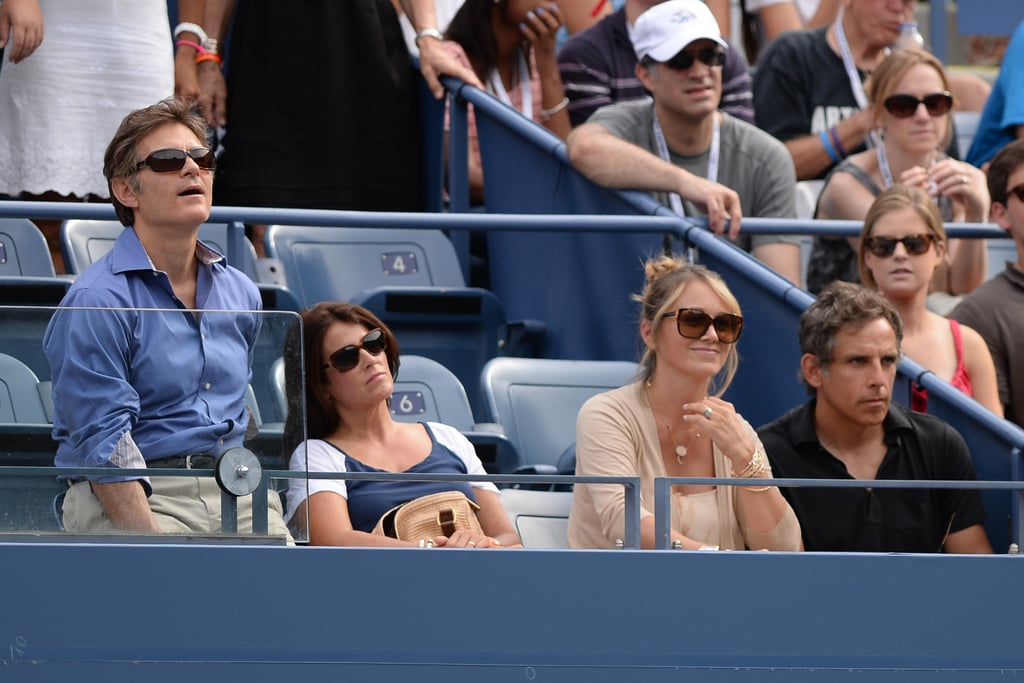 Dr. Mehmet Oz and his wife sat with Ben Stiller and his wife, Christine Taylor, at the US Open in NYC.