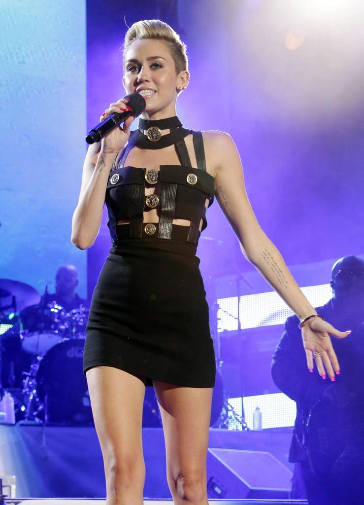 Miley Cyrus hosted the iHeartRadio Ultimate Pool Party.