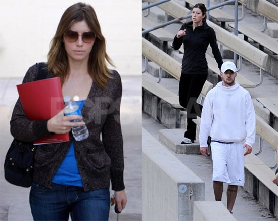 Photos of Justin Timberlake and Jessica Biel Working Out in LA