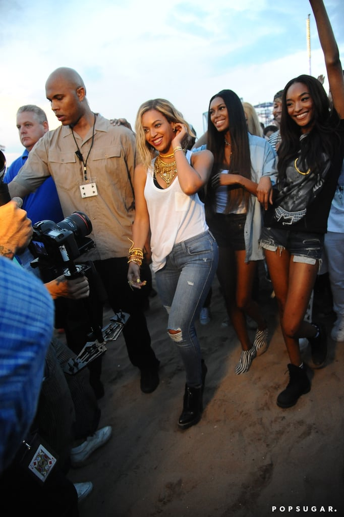 Beyonce filmed a new music video at Coney Island in NYC.