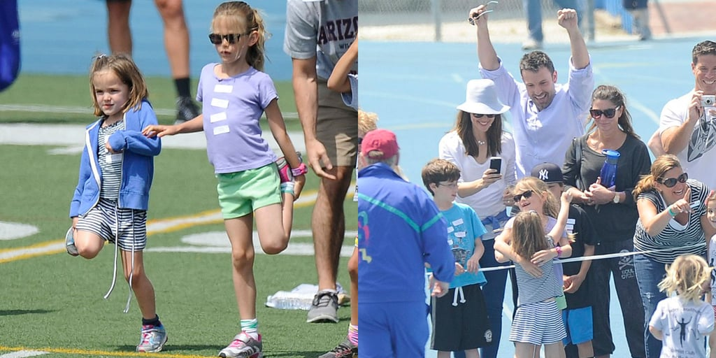 Ben, Jen, and Violet Cheer Sera On to the Finish Line
