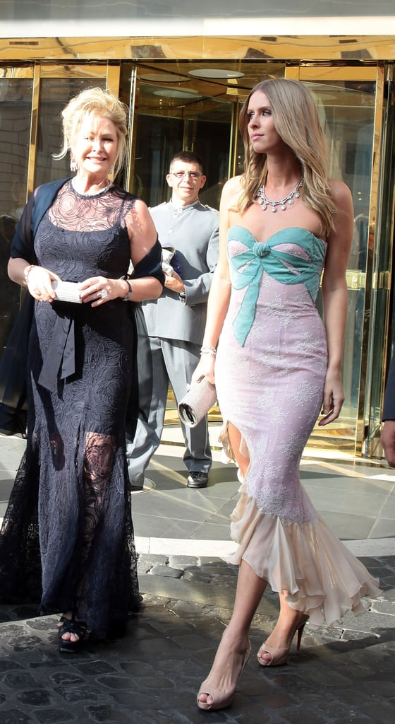 The Hiltons dazzled in beautiful gowns.