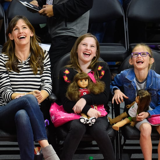 Jennifer Garner and Violet Affleck at a Clippers Game in LA