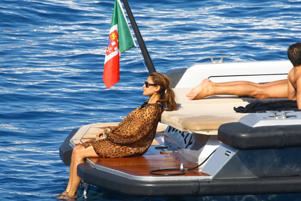 Photos of Eva Mendes on a Boat in Italy