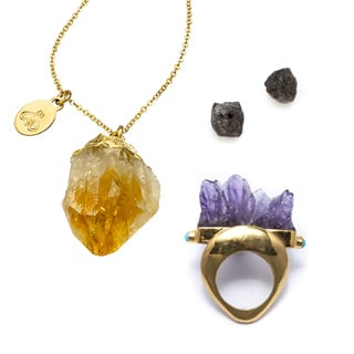 10 Best Crystal & Coloured Stone Jewellery: Rings & Earrings