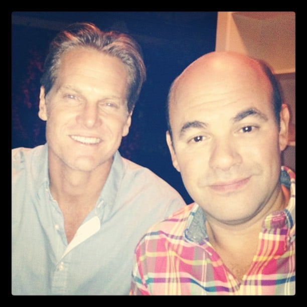Brian Van Holt and Ian Gomez posed for Josh Hopkins on the set of Cougar Town. Source: Instagram user mrjoshhopkins