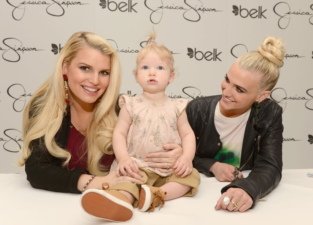 Jessica Simpson and her sister, Ashlee Simpson, were joined by Maxwell at a mall appearance in Charlotte, NC, in March.