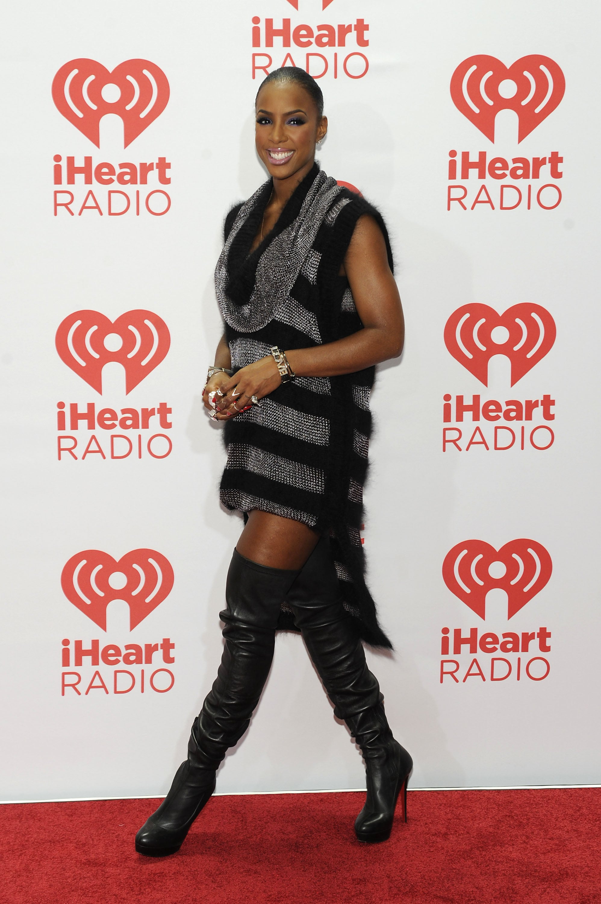Kelly Rowland wore sexy black boots.