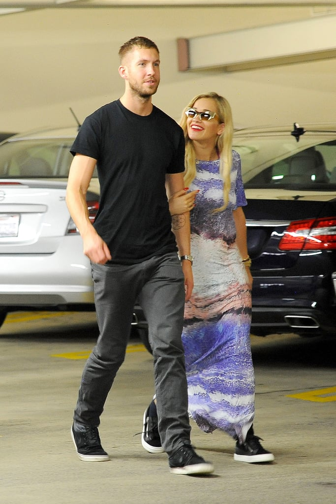 Hot new couple Calvin Harris and Rita Ora looked loved-up as they strolled around LA on June 20.