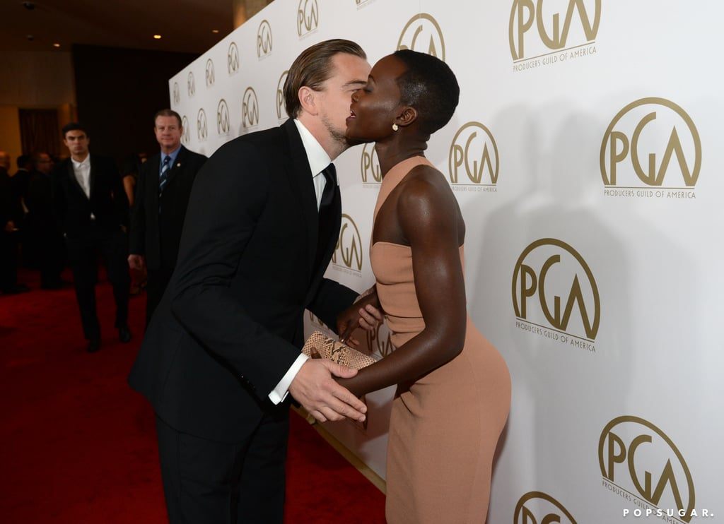 Leonardo DiCaprio kissed Lupita Nyong'o.