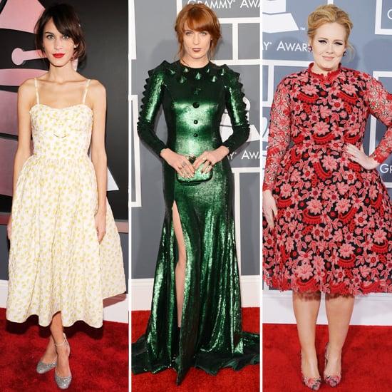 Alexa Chung, Florence Welch | Grammys 2013 Hair and Makeup
