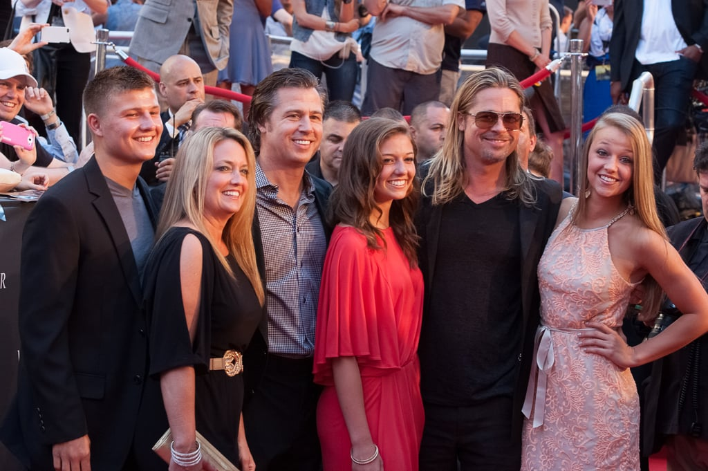 Brad Pitt continued his world tour as he promoted new zombie flick, World War Z — this time hitting New York on June 17.