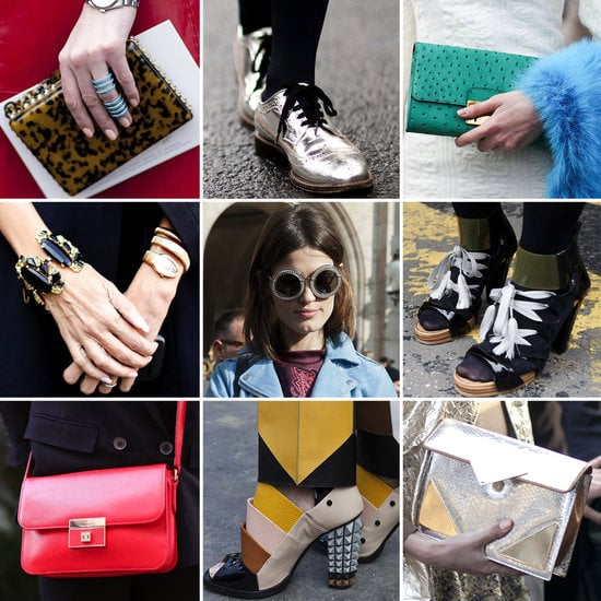 We've collected all of the most sumptuous bags, shoes, and baubles from the streets of PFW in one place.
