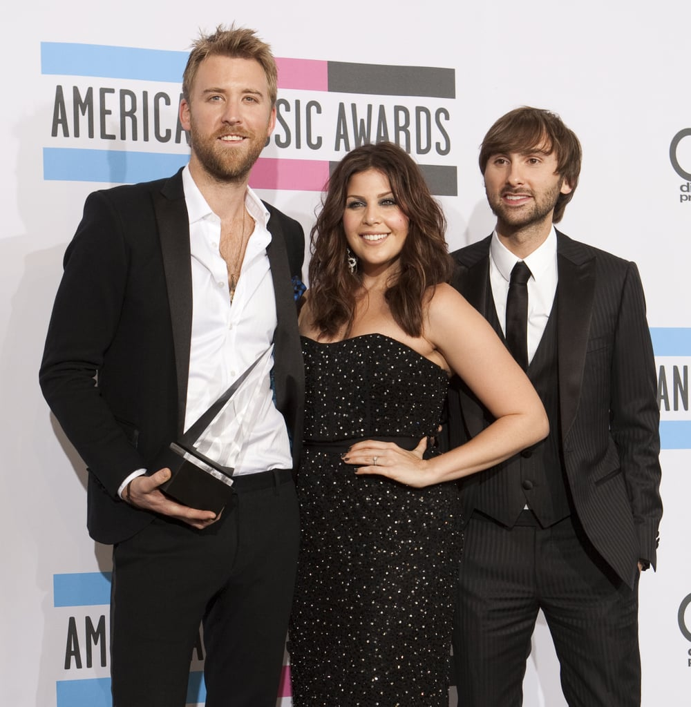 Lady Antebellum posed with their prize in 2011.