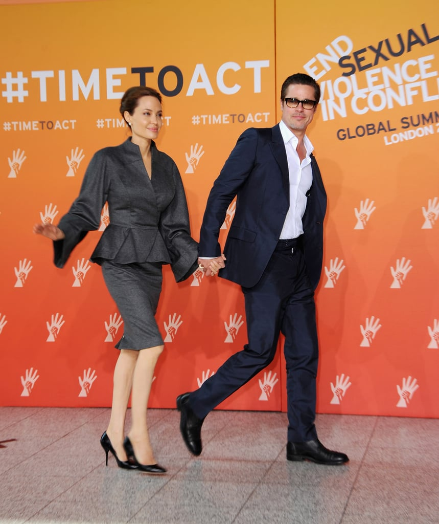 Angelina Keeps Brad Close at Her Global Summit