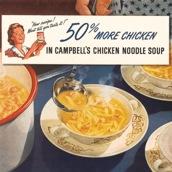 Campbell's Chicken Noodle Soup Vintage Ads