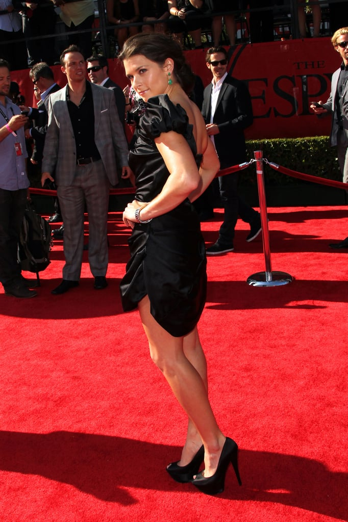 Danica Patrick showed all angles of her dress.