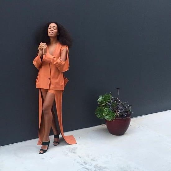 Solange Knowles Wearing Orange